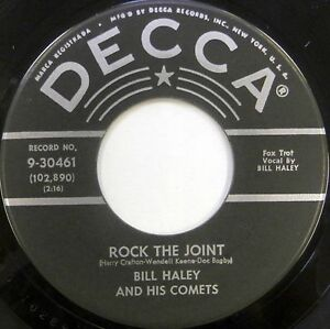 BILL-HALEY-HIS-COMETS-45-Rock-the-Joint-DECCA-Rockabilly-VG-Orig-CC271