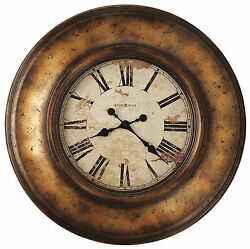 HOWARD MILLER 625540 -  29.5 LARGE  WALL CLOCK WITH AGED COPPER FINISH 625-540