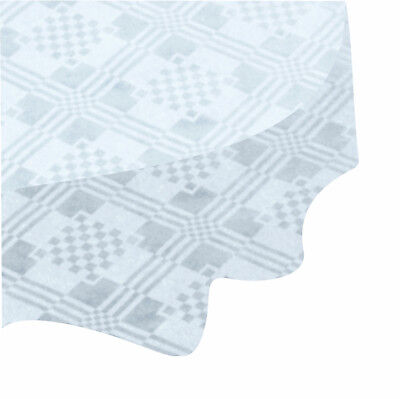 Pack of White Paper Table Cloths 90x90cm Large Disposable Party Banquet -