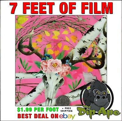 Hydrographic Film Pink Camo Hunter Girl Deer Skulls Hydro Dip Dipping Muddy 7ft