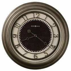 625-526 KENNESAW 25.5 HOWARD MILLER WALL CLOCK  IN ANTIQUE NICKEL FINISH