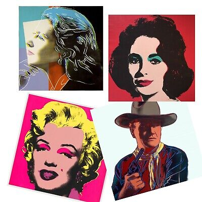 (4-Andy Warhol Art John Wayne Monroe Elizabeth Taylor Collection)