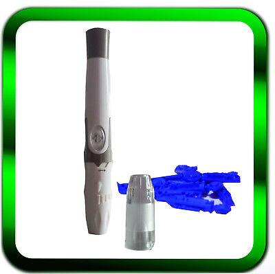 GlucoCheck Stechhilfe Lanzettengeraet | Kappe | Stechhilfe incl. 10 Lanzetten