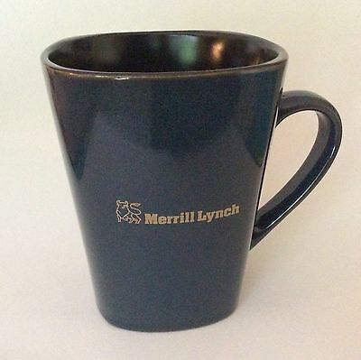 EUC Merrill Lynch Coffee Cup Mug, Bull Logo, Ceramic
