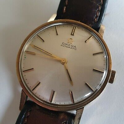 Vintage Omega Automatic Watch 1961 9ct Gold 24 Jewels