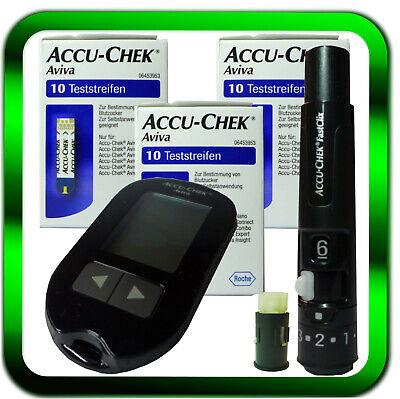 ACCU CHEK Aviva mg/dL NEU Blutzuckergerät | 30 Teststreifen