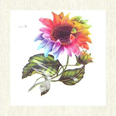Rainbow Tattoos (US SELLER, rainbow sunflower temporary tattoo body)