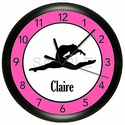 Gymnastics Wall Clock Personalized Gift Dance Ballet Ballerina Gymnist Girl