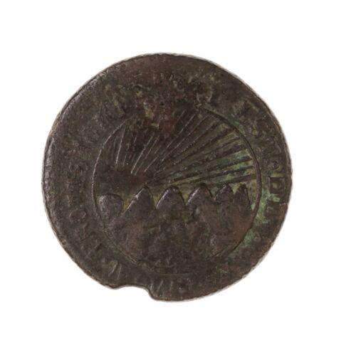 Raw 1855 TG Honduras 4 Reales Rare Provisional Coinage