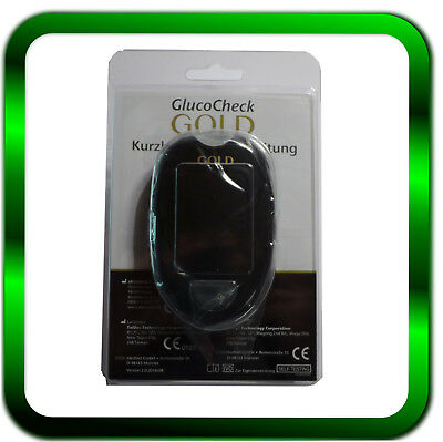 Richtige Gerät (GlucoCheck GOLD    Blutzuckermessgerät   Goldrichtig  mg/dl  )