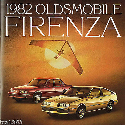 1982 OLDSMOBILE FIRENZA Brochure / Pamphlet : SX, LX, Coupe, Sedan,