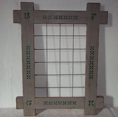 Fenstergitter-Holzfenster-DEKO bäuerlich-Gitterfenster
