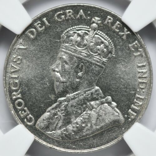 1927 Canada 5 Cent NGC AU-58 KM# 29