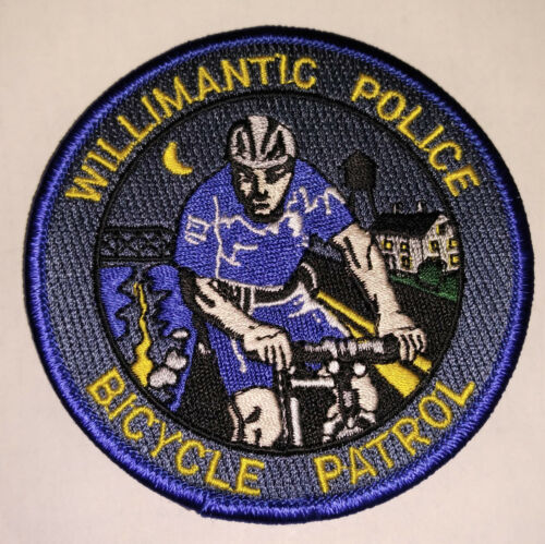 Willimantic Connecticut Police Bicycle Patrol Patch // FREE US Shipping!