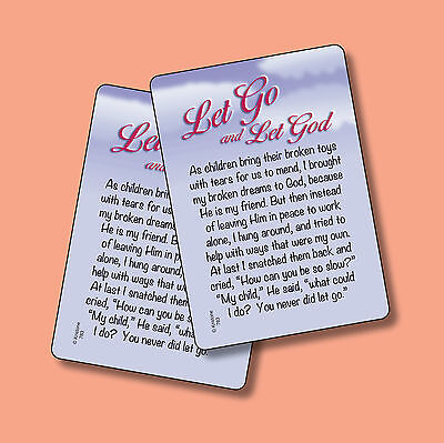 Let Go And Let God  Poem   2 Verse Cards   Sku  783