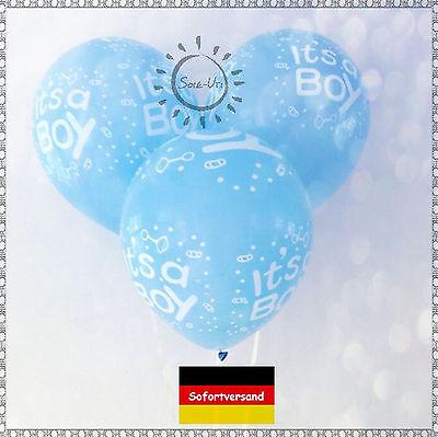 5/10 BALLON IT'S A BOY Luftballon Junge Geburt Taufe Geburtstag Babyparty SOFORT ()
