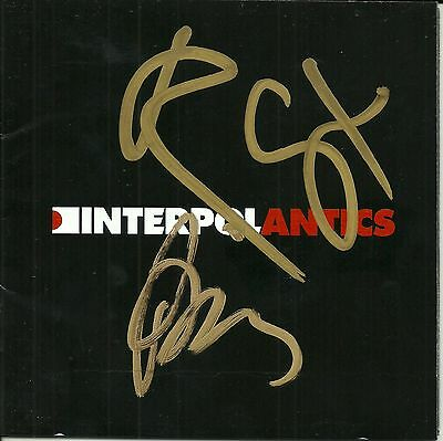 Interpol signed Antics cd