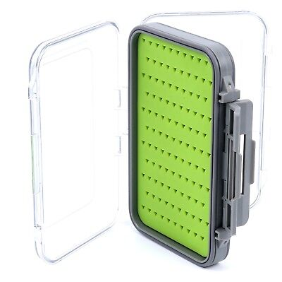 Large Waterproof Double Sided Jig/Fly Box with Silicone Insert Waterproof