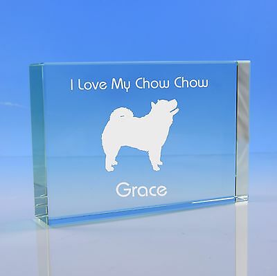 Chow Chow Dog Lover Gift Personalised Hand Engraved Paperweight