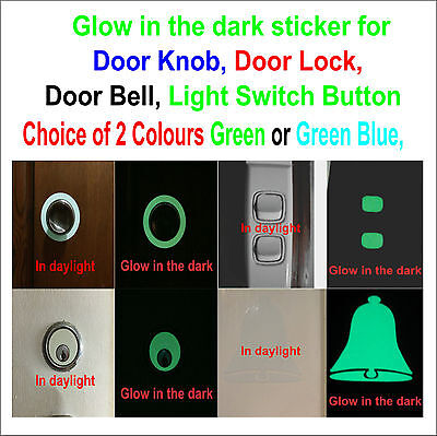 ckers - Door Knob, Door Lock, Door Bell, Light Switch button (Glow In The Dark Buttons)