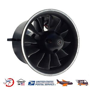 NEW 70mm EDF 2827 2600KV Motor with 12 Blades Ducted Fan for RC Jet AirPlane
