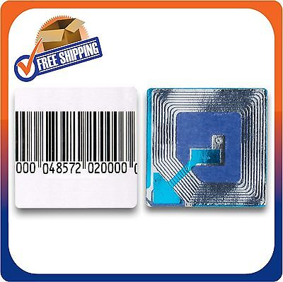 10000 PAPER SECURITY LABELS 1.5X1.5 INCH RF 8.2MHZ BARCODE CHECKPOINT COMPATIB