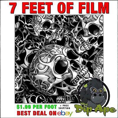 Hydrographic Film Skull Tribal Skulls Hydro Dipping 7 Hydro Dip Ape