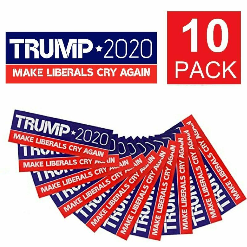 10-Pack Donald Trump 2020 Make Liberals Cry Again Bumper Sticker Decal USA