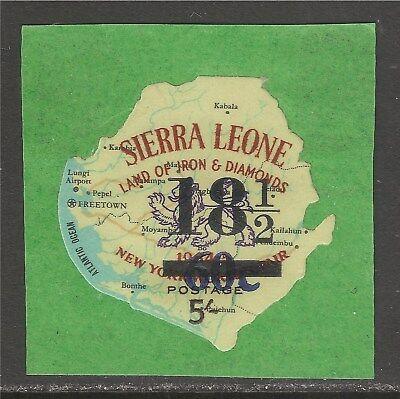 Sierra Leone #335 (A38) VF MNH - 1967 18 1/2c/60c/5sh Map & Lion