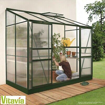 Vitavia Anlehngewächshaus Ida 3300 BxT:255x132cm 3,3m² 4mm HKP Alu smaragd