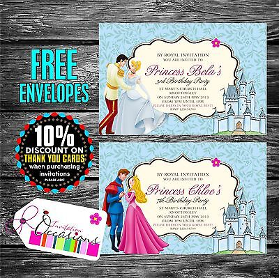 Personalised Birthday Invitations Prince and Princess Party x 5 - Prince And Princess Party