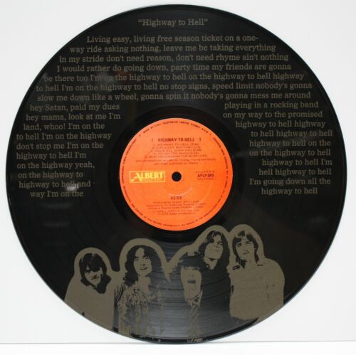 """AC/DC laser etched 12 inch LP record wall art. """"M4"""""""