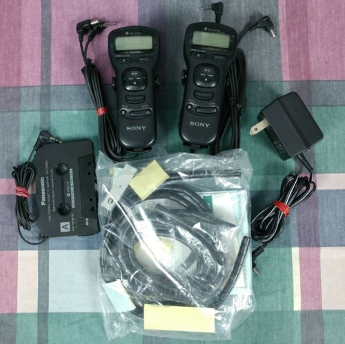 Pair of SONY RM-DM35 Remote Control Units + Extras for CD DISCMAN Players TESTED