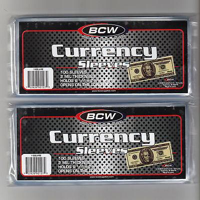200 Regular Dollar Bill Currency Sleeves - Money Holders- Protectors - Brand New