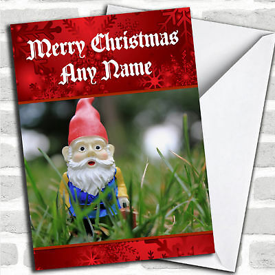 Garden Gnome Personalized Christmas Card