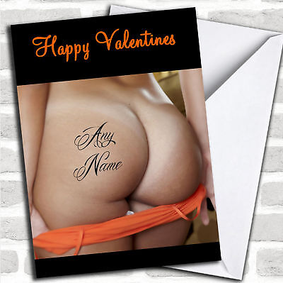 Tattoo Valentines Cards (Sexy Bum Tattoo Personalized Valentines)