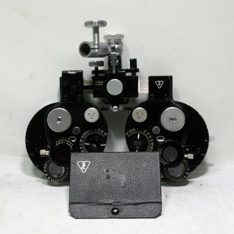 Vintage Antique B&L Bausch Lomb Refractor Phoropter & Lenses SN. 4300 SH