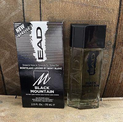 NIB EAD BLACK MOUNTAIN Men's Cologne 2.5 oz Spray Montblanc Legend By Mont Blanc