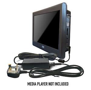 dc 12v mains power adapter supply for august da100c da900c portable tv tele ebay. Black Bedroom Furniture Sets. Home Design Ideas