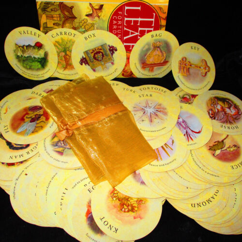 SEALED NEW! TEA LEAF FORTUNE CARDS & BOOK ORACLE UNLOCK ANCIENT SECRETS