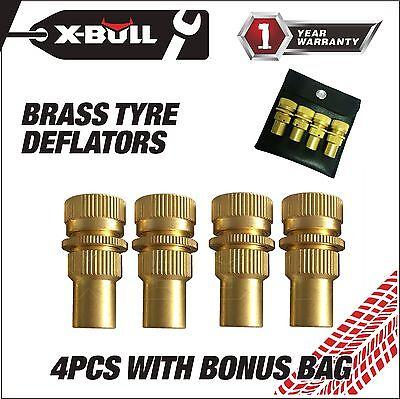 X Bull Brass Tire Deflators Kit Automatic Adjustable 6 30Psi Tyre Deflator
