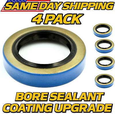 4 Pk Trailer Hub Grease Seal 168255tb 1.68 X 2.56 Double Lip 84 Spindles