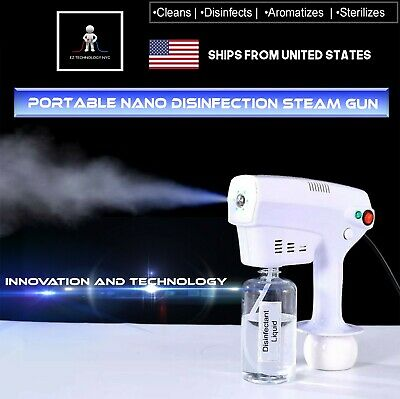 Portable Nano Blue Light Steam Spray Disinfection Sprayer Gun 110v Charging Usa