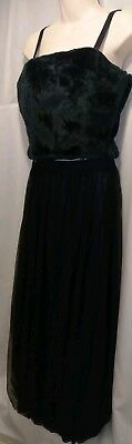 2 Piece Dark Navy Blue Long Party Dress By Apart Impressions Women's sz - Party Apart