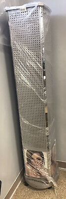 Rolling Revolving Pegboard Display 4- Sided Jewelry Display Tower