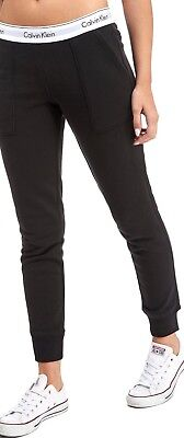 Calvin Klein Women's CK Modern Cotton Jogger Sweat Pant Lounge Casual Black Gray