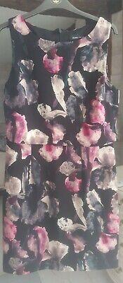 Ivanka Trump Polyester Floral Dress UK 10 VGC