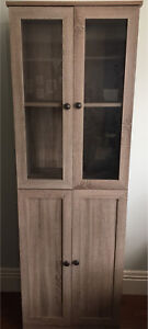 2 Cabinets w/ Glass Doors