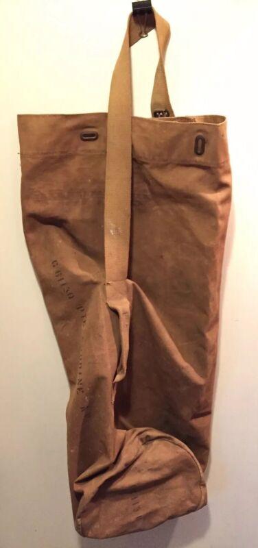 British Canadian WW2 WWII Tan Khaki Webbed Canvas Duffel Bag large G61130