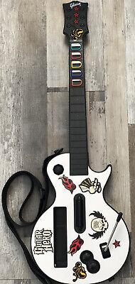 Nintendo Wii Guitar Hero White Gibson Les Paul Wireless Guitar Controller Strap